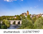 old lahn bridge and view to... | Shutterstock . vector #1137877997