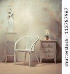 cozy retro vintage furniture... | Shutterstock . vector #113787967