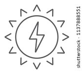 solar energy thin line icon ... | Shutterstock .eps vector #1137888551