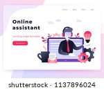 landing page template customer... | Shutterstock .eps vector #1137896024