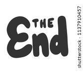 the end. sticker for social... | Shutterstock .eps vector #1137910457