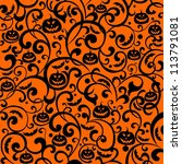 halloween background. ... | Shutterstock . vector #113791081