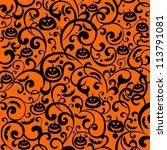 halloween background. ... | Shutterstock . vector #113791081