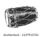 vector engraved style... | Shutterstock .eps vector #1137912761
