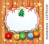 christmas background with... | Shutterstock .eps vector #113792134