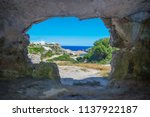 view from the inside of cala... | Shutterstock . vector #1137922187