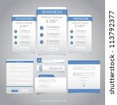 web design navigation set.... | Shutterstock .eps vector #113792377