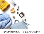 flat lay photo autumn or winter ... | Shutterstock . vector #1137939344