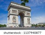 paris  france   19 may 2018 ... | Shutterstock . vector #1137940877