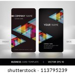 business card set. vector... | Shutterstock .eps vector #113795239