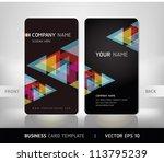 business card set. vector... | Shutterstock .eps vector #113795239