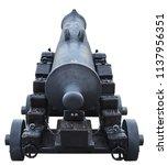 old cannon artillery battle... | Shutterstock . vector #1137956351