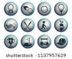 golf vector icons for web and... | Shutterstock .eps vector #1137957629