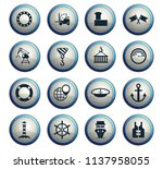 harbor vector icons for web and ... | Shutterstock .eps vector #1137958055