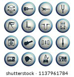 guitar and accessories web... | Shutterstock .eps vector #1137961784