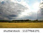 a relaxing and beautiful summer ...   Shutterstock . vector #1137966191