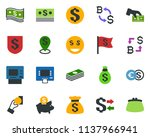 colored vector icon set  ... | Shutterstock .eps vector #1137966941