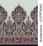 traditional indian motif | Shutterstock . vector #1137976361