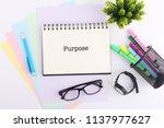 business concept. top view... | Shutterstock . vector #1137977627