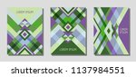 collection of cover page... | Shutterstock .eps vector #1137984551