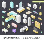 vector big set of low poly... | Shutterstock .eps vector #1137986564