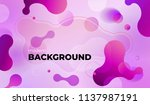 colorful geometric background... | Shutterstock .eps vector #1137987191