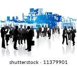 illustration of business people | Shutterstock .eps vector #11379901