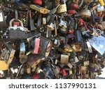 padlocks hung by newlyweds on... | Shutterstock . vector #1137990131