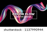 modern colorful flow poster.... | Shutterstock .eps vector #1137990944