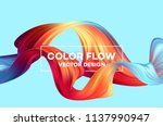 modern colorful flow poster.... | Shutterstock .eps vector #1137990947