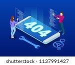 website under construction page.... | Shutterstock .eps vector #1137991427