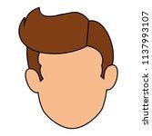 young man avatar head character | Shutterstock .eps vector #1137993107