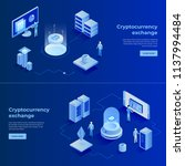 cryptocurrency exchange and... | Shutterstock .eps vector #1137994484