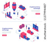 cryptocurrency exchange and... | Shutterstock .eps vector #1137994487