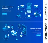 cryptocurrency exchange and... | Shutterstock .eps vector #1137994511
