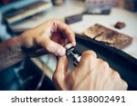 different goldsmiths tools on... | Shutterstock . vector #1138002491