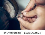 different goldsmiths tools on... | Shutterstock . vector #1138002527