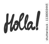 holla  sticker for social media ... | Shutterstock .eps vector #1138003445