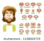 caucasian man with icons of... | Shutterstock .eps vector #1138004729