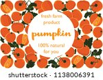 vector illustration of pumpkin... | Shutterstock .eps vector #1138006391