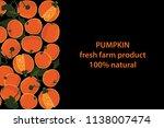 vector illustration of pumpkin... | Shutterstock .eps vector #1138007474