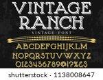 font alphabet script typeface... | Shutterstock .eps vector #1138008647