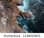 aerial top view of sea waves... | Shutterstock . vector #1138010831