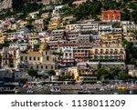 positano  italy   june 11  2018 ... | Shutterstock . vector #1138011209