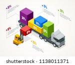 isometric logistic infographic... | Shutterstock .eps vector #1138011371