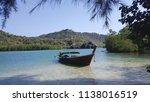 motor boat parking | Shutterstock . vector #1138016519
