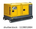 stationary diesel generator... | Shutterstock .eps vector #113801884