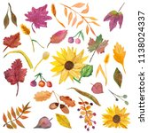 Watercolor Autumn Yellow Green Red - Fine Art prints