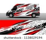 cargo van decal designs  truck... | Shutterstock .eps vector #1138029194