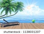 outdoor living on summer... | Shutterstock . vector #1138031207